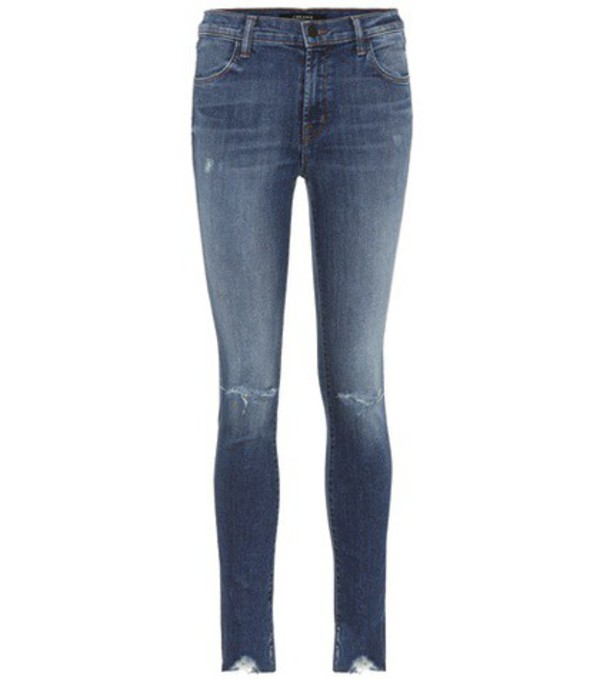 J Brand Maria high-waisted skinny jeans in blue
