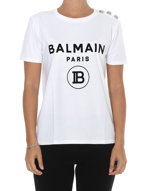 Balmain Logo Tshirt in black / white