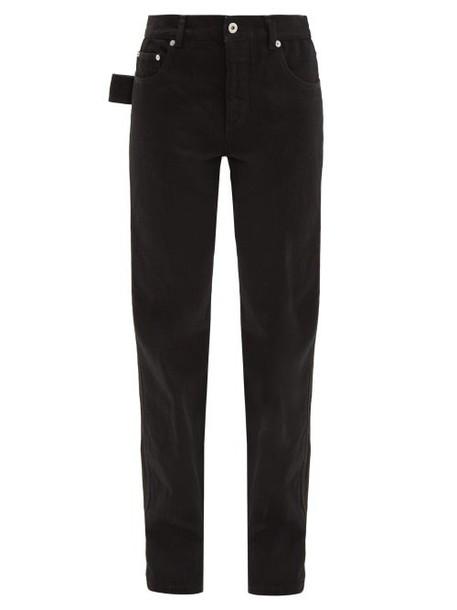 Bottega Veneta - Low Rise Slouchy Fit Straight Leg Jeans - Womens - Black