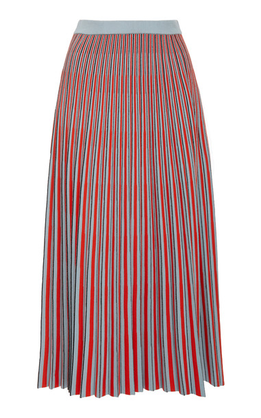 Proenza Schouler Striped Knit Jacquard Midi Skirt