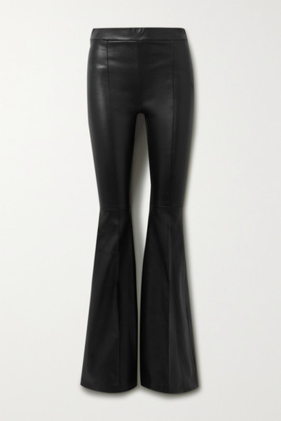 Rosetta Getty - Leather Flared Pants - Black