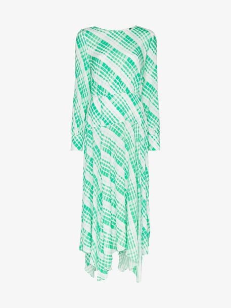 Rixo Elsa check print midi dress