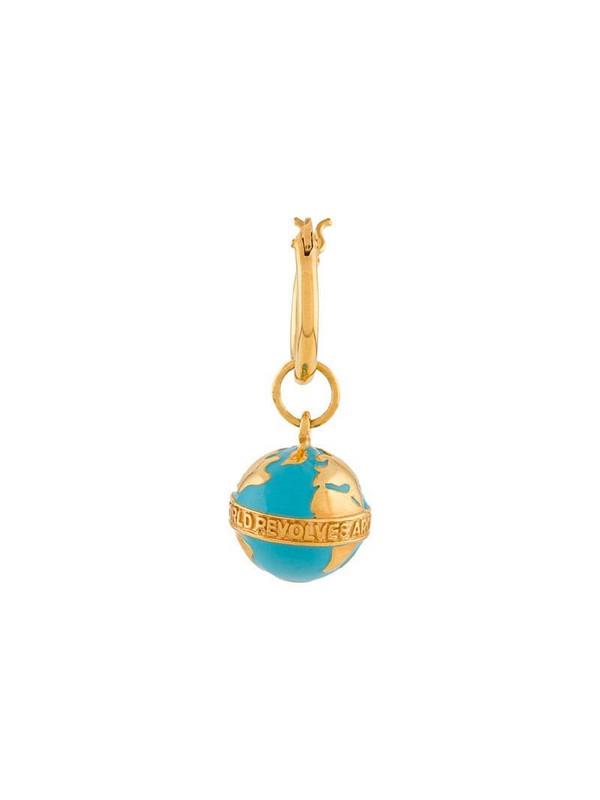 True Rocks globe hoop single earring in blue