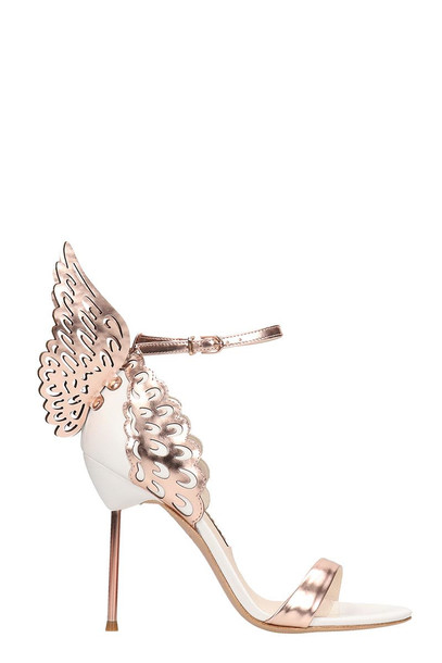 Sophia Webster White And Bronze Leather Evangeline Sandals