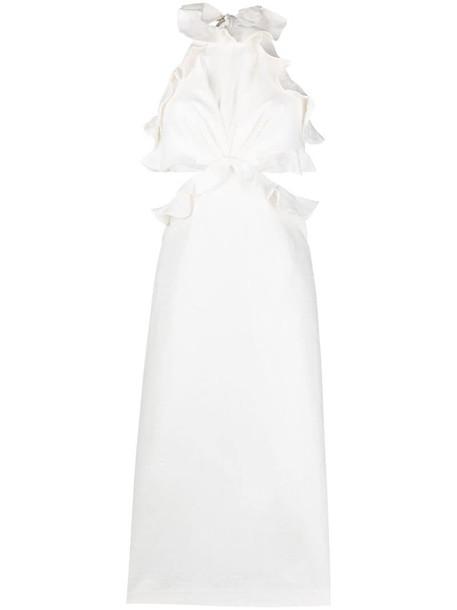 Zimmermann The Lovestruck ruffle detail midi dress in white