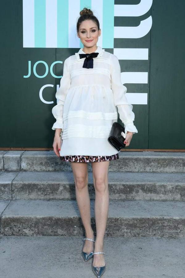 skirt pink skirt mini skirt animal print leopard print olivia palermo blouse blogger