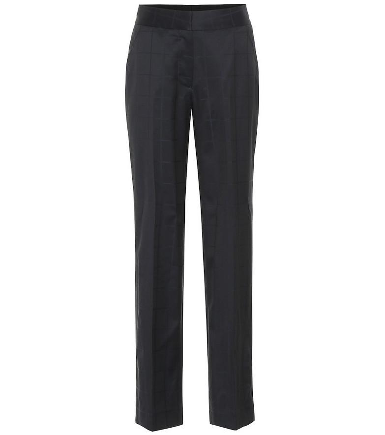 Blazé Milano Noa checked high-rise wool pants in blue