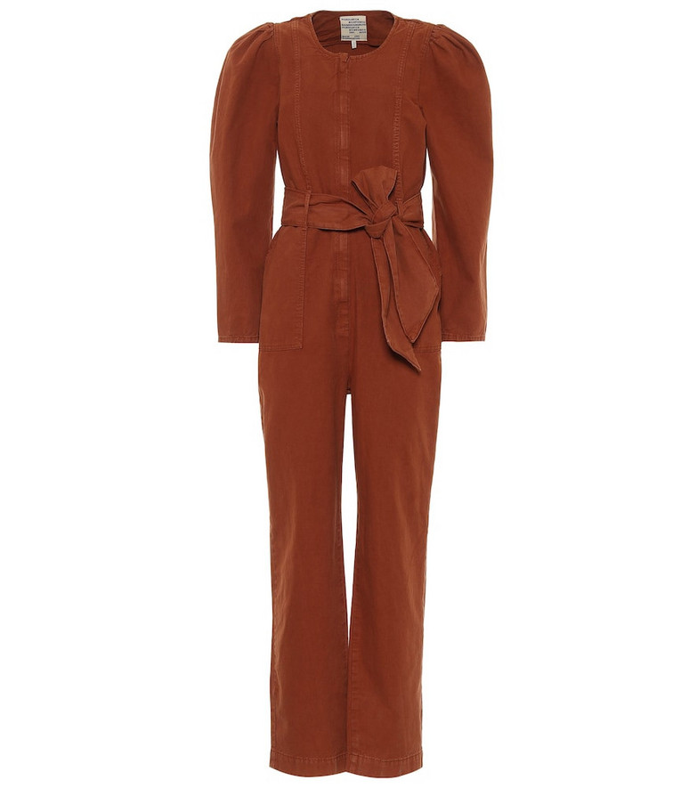 Baum und Pferdgarten Noralee cotton and linen jumpsuit in brown
