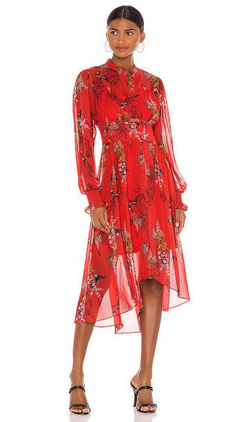 ALLSAINTS Leonie Melisma Dress in Red