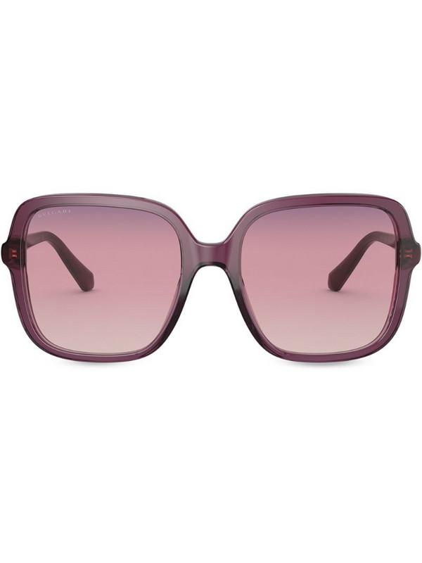 Bvlgari oversize square frame sunglasses in purple