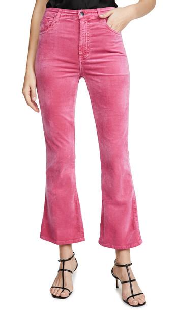 J Brand Julia High Rise Flare Pants in rose