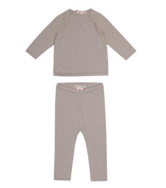 Bonpoint Cotton top and pants set in grey