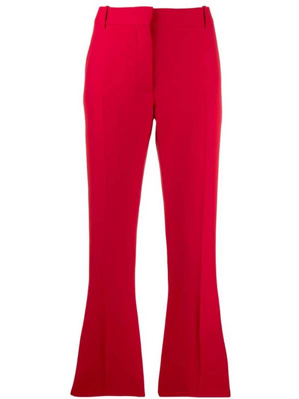 Valentino kickflare tailored trousers in red