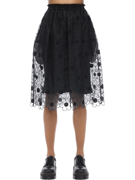 MONCLER GENIUS Simone Rocha Silk Skirt in black
