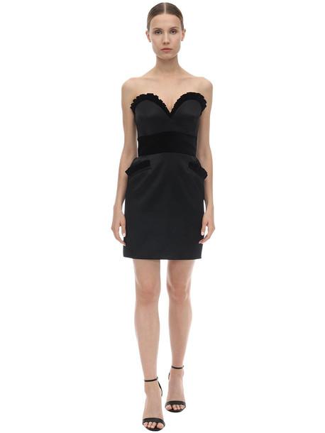 MOSCHINO Sweetheart Neck Mini Bustier Dress in black