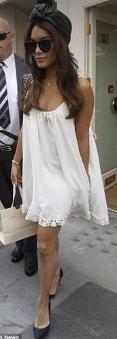 dress,white dress,vanessa hudgens