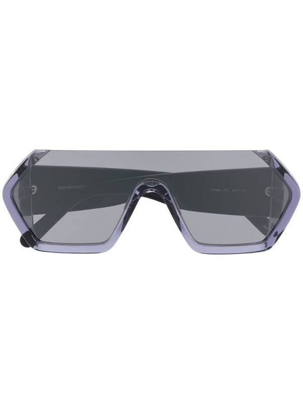 Courrèges Eyewear oversized tinted sunglasses in blue