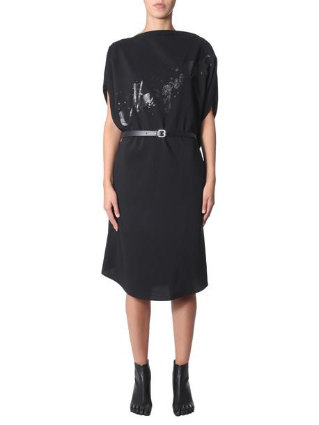 MM6 Maison Margiela Long Dress in nero