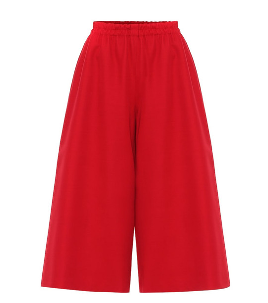 Gucci Wool and silk culottes in red