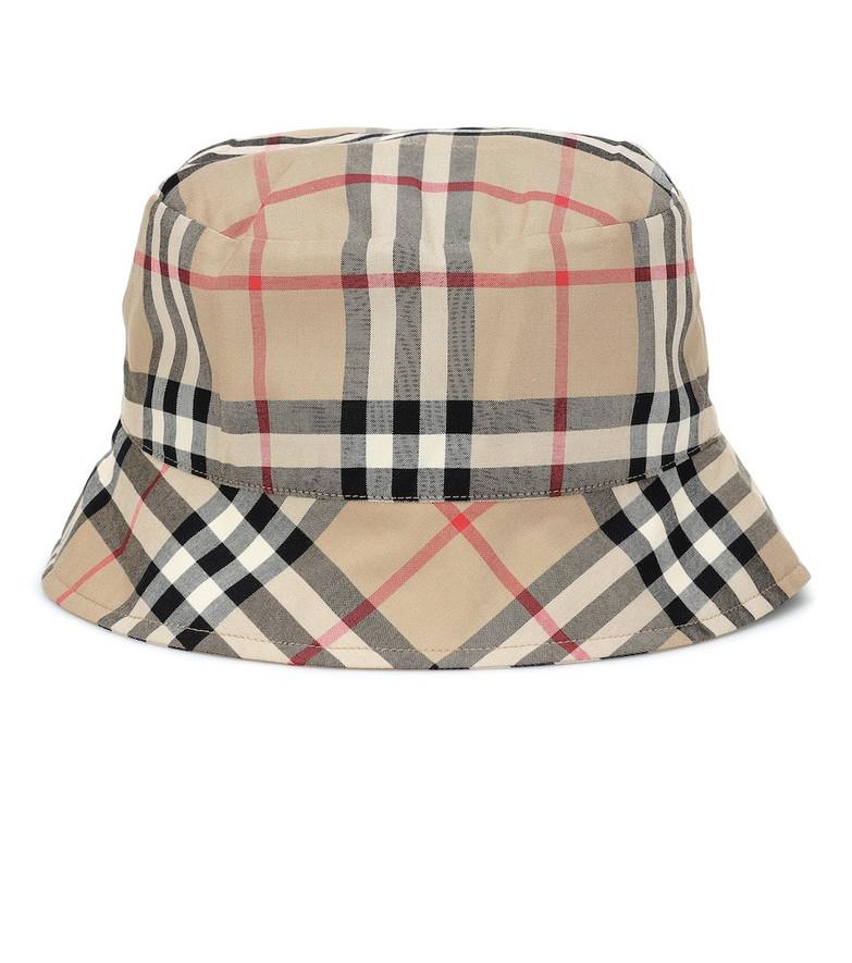 Burberry Kids Baby Vintage Check cotton bucket hat in beige