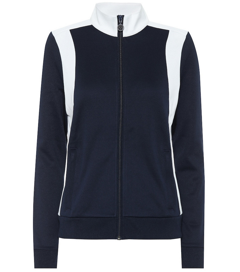 Tory Sport Colorblocked track jacket in blue