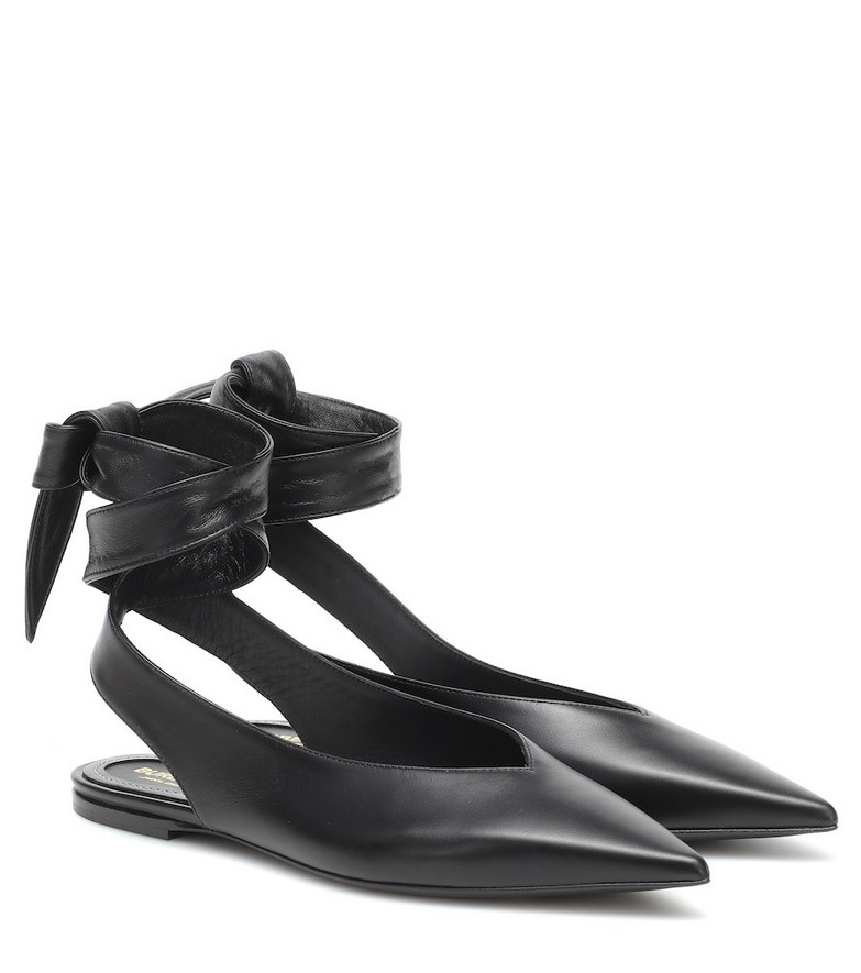 Burberry Howe leather slinback flats in black