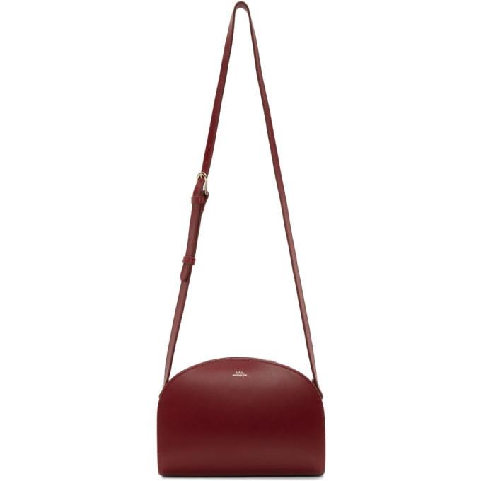 A.P.C. A.P.C. Red Half-Moon Bag