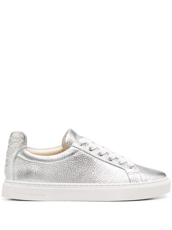 Sophia Webster Butterfly low-top trainers in silver