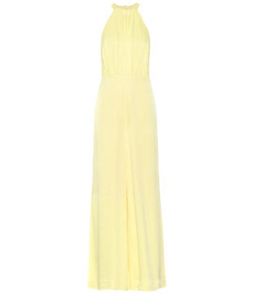 ROTATE BIRGER CHRISTENSEN Satin jumpsuit in yellow