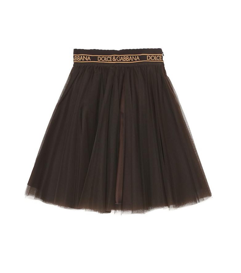 Dolce & Gabbana Kids Tulle skirt in brown