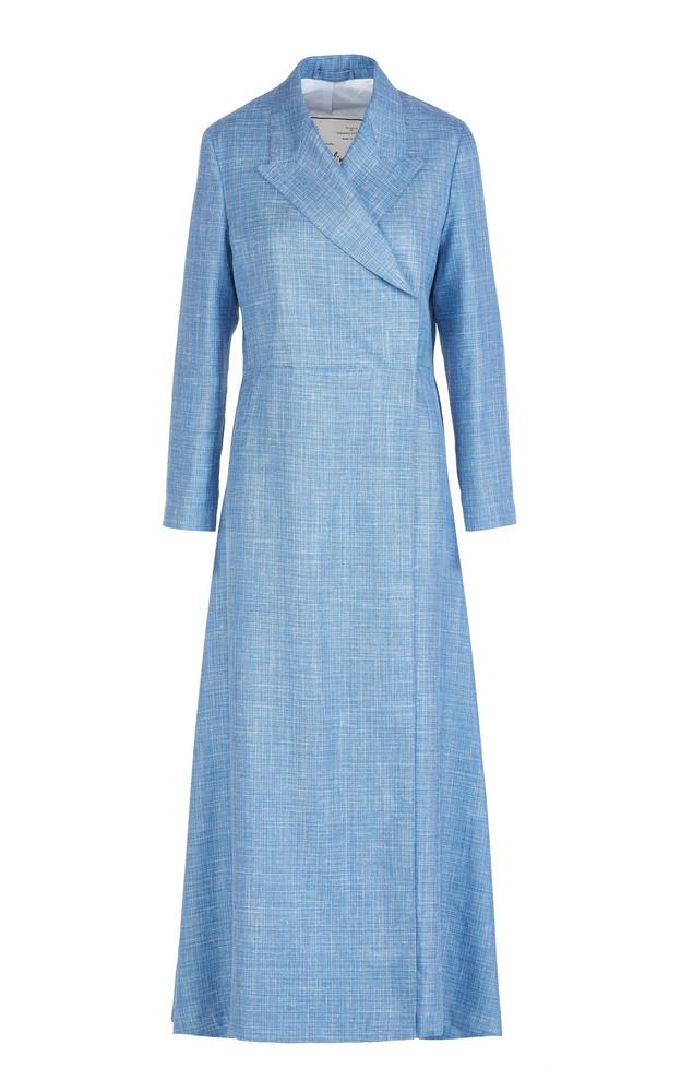 Giuliva Heritage The Christene Wool-Blend Coat in blue