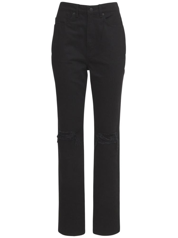 ALEXANDER WANG High Waist Distressed Denim Jeans in black