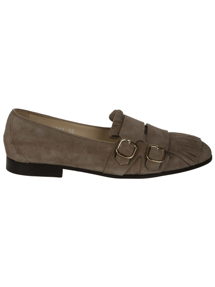 Doucal's Double Buckle Loafers in brown