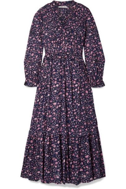 Isabel Marant Étoile - Likoya Ruffled Floral-print Cotton-voile Maxi Dress - Blue