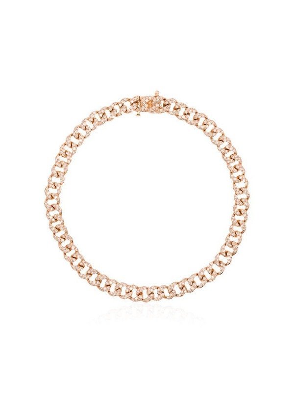 SHAY 18kt rose gold and diamond mini 7 inch link bracelet