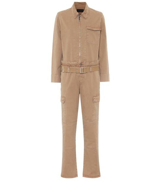 RTA Cisco stretch-cotton jumpsuit in brown