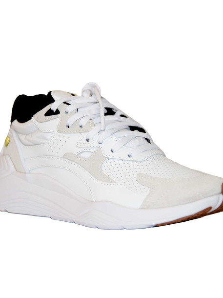 Mcq Alexander Mcqueen Panelled Sneakers in black / white / yellow