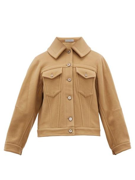 Palmer/harding Palmer//harding - Blended Cape Back Wool Blend Jacket - Womens - Camel