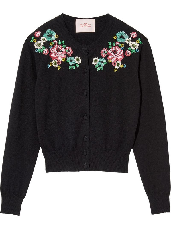 Marc Jacobs The Beaded Love cardigan in black