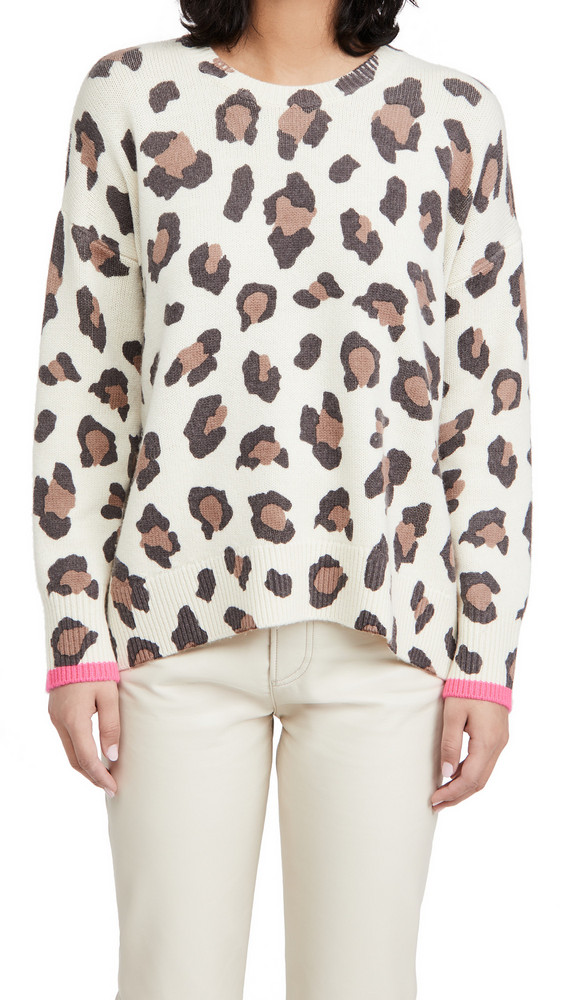 SUNDRY Oversize Sweater in leopard