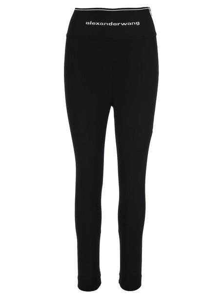 Alexander Wang Logo Leggings in black