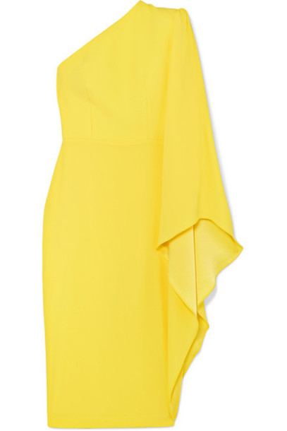 Alex Perry - Finley One-sleeve Crepe Dress - Yellow