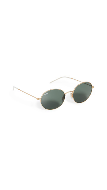 Ray-Ban Youngster Oval Sunglasses in gold / green