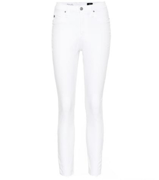 AG Jeans The Mila high-rise skinny jeans in white
