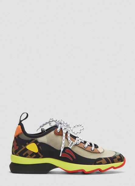 Fendi Technical Mesh Sneakers in Mulitcolour size EU - 37 in black