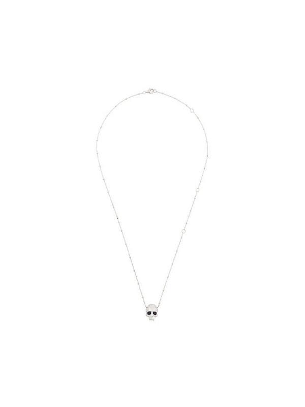 Kasun London vampire skull pendant necklace in metallic