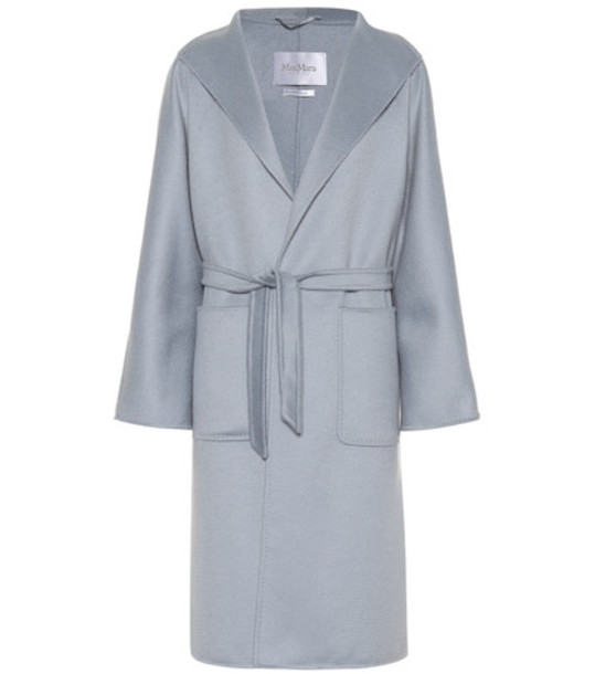 Max Mara Lilia cashmere coat in blue