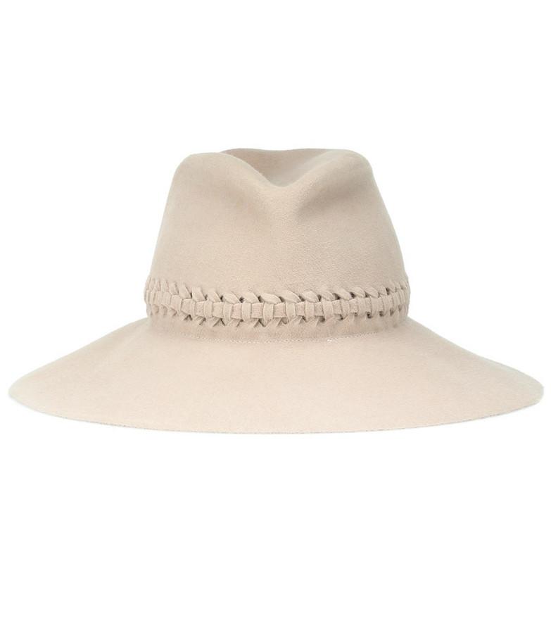 Lola Hats Fretwork Redux felt hat in white