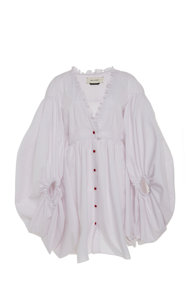 Hellessy Sonia Cotton-Blend Bubble Dress in white