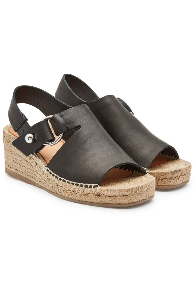 Rag & Bone Arc Leather Espadrilles  in black
